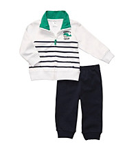 Carter's® Baby Boys' White/Navy 2-pc. Long Sleeve Mommy's Catch Set