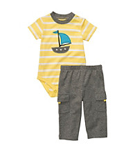 Carter's® Baby Boys' Yellow Striped 2-pc. Short Sleeve Sailboat Set