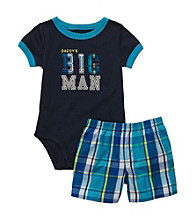 Carter's® Baby Boys' Navy 2-pc. Plaid Big Man Shorts Set