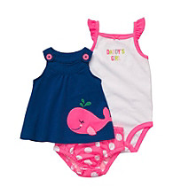 Carter's® Baby Girls' Blue/Pink Sleeveless Whale Swing Top Set