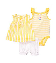 Carter's® Baby Girls' Yellow/White Sleeveless Swing Top Set