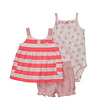 Carter's® Baby Girls' Coral Sleeveless Striped Swing Top Set