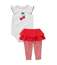 Carter's® Baby Girls' White/Red Ruffle Sleeve Cherry Tutu Set