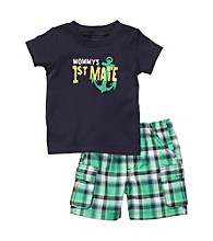 Carter's® Baby Boys' Green/Navy 2-pc. 1st Mate Shorts Set