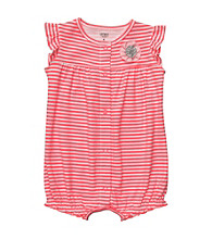 Carter's® Baby Girls' Pink/White Striped Creeper