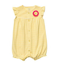Carter's® Baby Girls' Yellow/White Striped Creeper