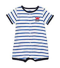 Carter's® Baby Boys' Blue Striped Crab Creeper