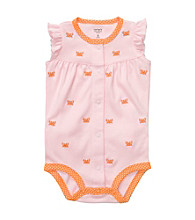Carter's® Baby Girls' Pink Crab Schiffli Creeper
