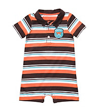 Carter's® Baby Boys' Orange/Brown Striped Short Sleeve Romper