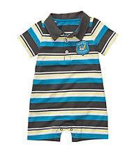 Carter's® Baby Boys' Blue Striped Short Sleeve Romper