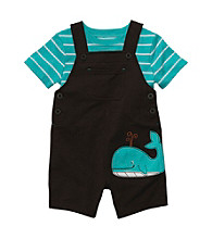 Carter's® Baby Boys' Brown Whale Shortall Set