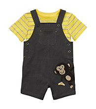 Carter's® Baby Boys' Grey Monkey Shortall Set