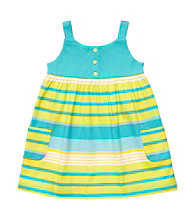 Carter's® Baby Girls' Turquoise Striped Tank Dress