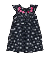 Carter's® Baby Girls' Navy Flower Print Tiered Dress