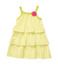 Carter's® Baby Girls' Lime Geometric Print Tiered Dress