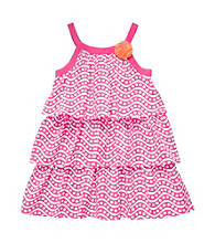 Carter's® Baby Girls' Pink Geometric Print Tiered Dress