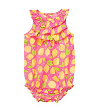 Carter's® Baby Girls' Pink/Yellow Sleeveless Lemon Print Sunsuit