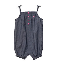 Carter's® Baby Girls' Navy Strappy Chambray Sunsuit