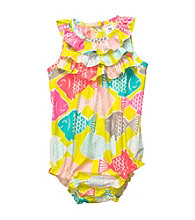 Carter's® Baby Girls' Multi Fish Print Sunsuit
