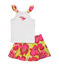 Carter's® Baby Girls' Yellow/Pink Floral Print Toucan Skort Set