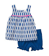 Carter's® Baby Girls' Blue Print Bloomer Shorts Set