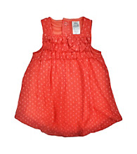 Baby Essentials® Baby Girls' Orange Dot Bubble Romper