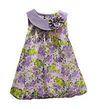 Baby Essentials® Baby Girls' Purple Floral Bubble Romper