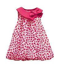 Baby Essentials® Baby Girls' Pink Heart Print Bubble Romper