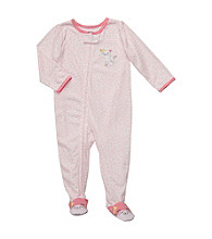 Carter's® Girls' 12M-4T Pink Leopard Footie Pajamas