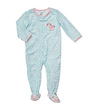 Carter's® Girls' 12M-4T Blue Animal Print Footie Pajamas
