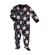 Carter's® Boys' 12M-4T Grey Sport Ball Footie Pajamas