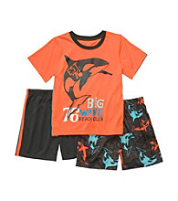 Carter's® Boys' 4-12 Orange 3-pc. Whale Pajama Set