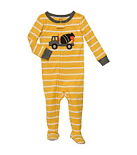 Carter's® Baby Boys' Yellow Striped Truck Footie Pajamas