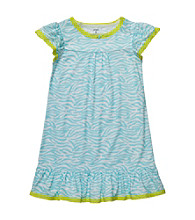 Carter's® Girls' 4-14 Blue Animal Print Sleep Gown