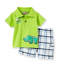 Kids Headquarters® Baby Boys' Lime 2-pc. Gator Shorts Set
