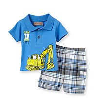 Kids Headquarters® Baby Boys' Blue 2-pc. You Can Dig It Polo Shorts Set