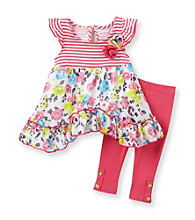 Kids Headquarters® Baby Girls' Pink 2-pc. Floral Tunic and Leggings Set