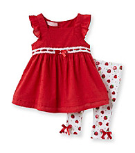 Kids Headquarters® Baby Girls' Red 2-pc. Cherry Tunic and Leggings Set