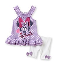 Nannette® Baby Girls' Purple 2-pc. Disney Tunic and Biker Shorts Set