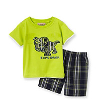 Kids Headquarters® Baby Boys' Lime 2-pc. Explorer Shorts Set