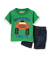 Kids Headquarters® Baby Boys' Green 2-pc. Monster Shorts Set