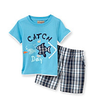 Kids Headquarters® Baby Boys' Blue 2-pc. Fish Shorts Set