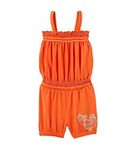 Kids Headquarters® Baby Girls' Orange Heart Romper