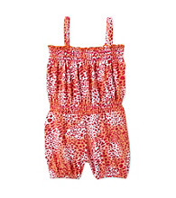 Kids Headquarters® Baby Girls' Pink Cheetah Romper