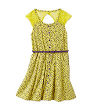 Jessica Simpson Girls' 7-16 Limeaid Agia Printed Dress