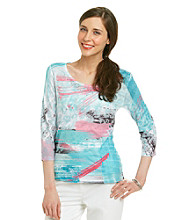 Laura Ashley Brush Stroke Animal Sublimation Top