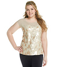 Calvin Klein Plus Size Sequin Top