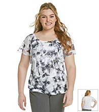 AGB® Plus Size Ruffled Sublimation Tee