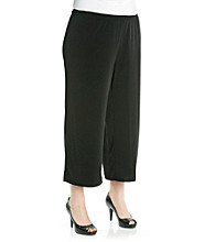 Notations® Plus Size Crop Pant
