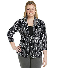 Notations® Plus Size Layered-Look Top